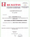 Conformity certificate of environmental management system according to ISO 14001